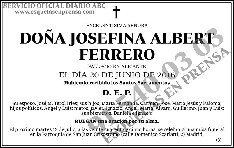 Josefina Albert Ferrero